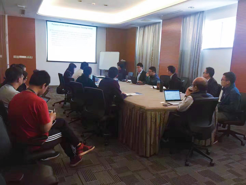 2018年10月12日四硕为江苏豪森药业集团提供IT治理COBIT5认证培训